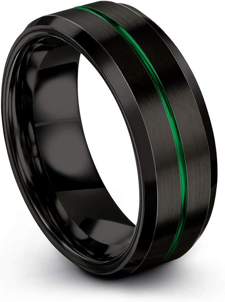 El Paso Mall Chroma Color Collection Tungsten Carbide 8mm Super intense SALE Band Wedding Ring f