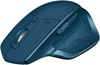 Logitech MX Master 2S Wireless Mouse, Multi-Device, Bluetooth or 2.4GHz Wireless with USB Unifying Receiver, 4000 DPI Any Surface Tracking, 7 Buttons, Fast Rechargeable, Laptop/PC/Mac/iPad OS - Blue