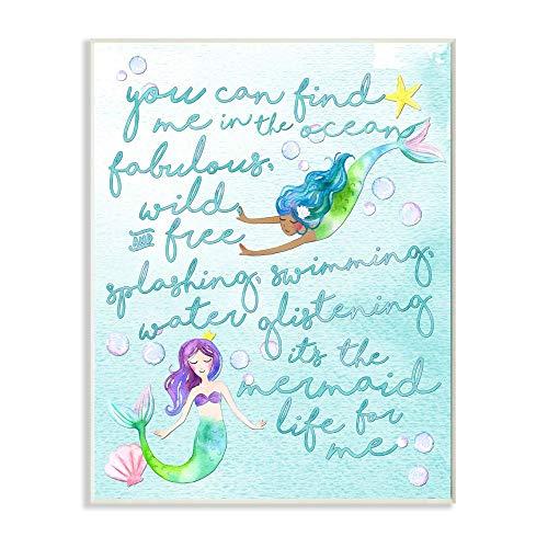 Preisvergleich Produktbild Stupell Industries Mermaid Life for Me Painting Wandschild,  Design von der Künstlerin Erica Billups,  10x15