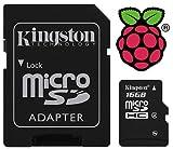 Kingston 16GB Micro SD Card preloaded with Noobs for Raspberry Pi Model B+ & Pi 2, [Importado de Reino Unido]