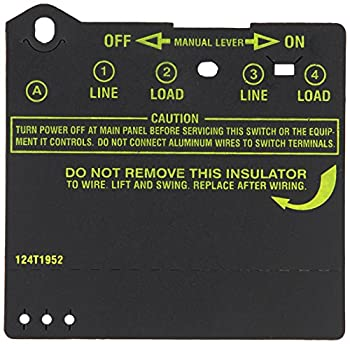 Intermatic Insulator for Double-Pole Timer Switches Item # 124T1952 for use in T100 Series Intermatic Timers  T103 T104 T105 T173 T174 T175 T176 T185 WH40  Timer Controls Accessories