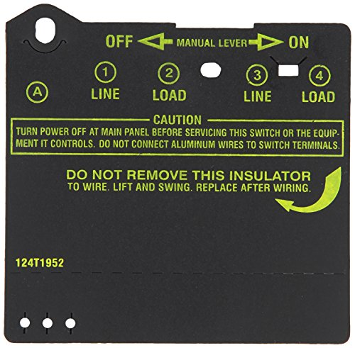 Intermatic Insulator for Double-Pole Timer Switches, Item # 124T1952...