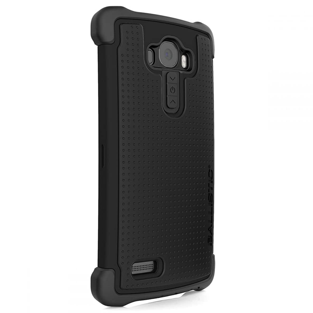 Ballistic, LG G4 Case [Tough Jacket Maxx] Holster Clip & Tempered Glass Screen Protector Included - 7ft Drop Tested Protection [Black] Reinforced Bumper Cell Phone Case for LG G4  - Black