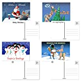 Assorted Christmas Postcards - 40 Funny Christmas Postcards - 4 x 6 Inch Postcards (Long Night)