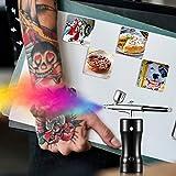 InLoveArts Kit de pistola de pulverización de belleza profesional, juego de aerógrafo portátil con taza de 20 ml,maquillaje, arte,pintura de uñas, tatuaje, manicura, pasteles, herramienta de bricolaje