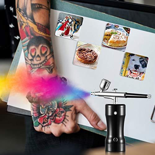 InLoveArts Mini Airbrush mit Luftkompressor,USB Airbrushpistole Luftkompressor Kit für torten, Modellen, Make-up, Schuhen, Nägeln, Kleidung, Backen, Kunsthandwerk