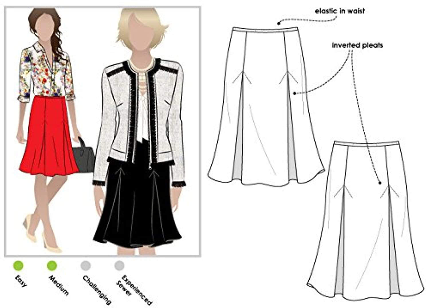 Style Arc Sewing Pattern - Allison Skirt (Sizes 18-30) - Click for Other Sizes Available