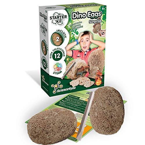 Science4you-Starter Kit Dino Eggs, Juguete Educativo Dinos, Huevos de Dinosaurios para Niños +8 Años (80002681)