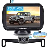 Wireless Backup Camera for Trucks with 5'' Monitor, DoHonest S23 HD 1080P Bluetooth Backup Camera Stable Digital Signals for Car Van Camper Support Add 2nd RV Camera, Built in Wide Voltage 12V-35V