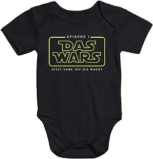 MoonWorks Kurzarm Baby Body Das Wars ab jetzt hab ich die Macht Episode 1 Bio-Baumwolle