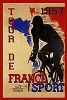 ツールドフランスティンサイン、ヴィンテージ鉄塗装メタルプレートノベルティ装飾クラブカフェバー