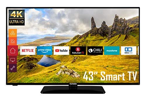 Telefunken D43U551N1CW (4K Ultra HD, HDR, Triple-Tuner, Smart TV, Works with Alexa, HD+) [Modelljahr 2021]