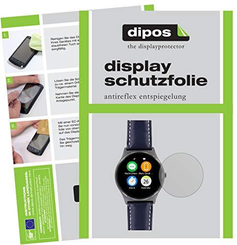 dipos I 6X Schutzfolie matt kompatibel mit Uhr 36.5 mm Durchmesser Folie Displayschutzfolie