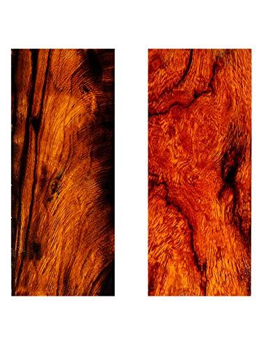 Aibote 1 Paar Natürliches Wüsten-Eisenholz Messergriffwaagen Holzgriffe Materialplattenmesser Benutzerdefinierte DIY-Werkzeuge für die Schmuckherstellung leeren Klingen (4.72
