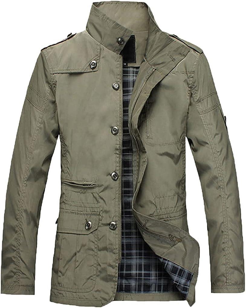 Men's Thin Jackets Casual Wear Comfort Windbreaker Spring Autumn Overcoat Men Trench Coat