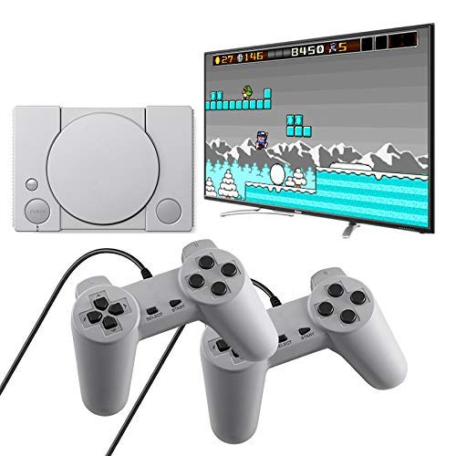 XFF GamepadlPS1 Mini Consola De Juegos para El Hogar Retro Dual Battle...