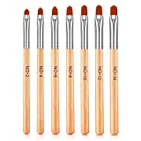 7 piezas de uñas de uñas de gel UV de madera natural cepillo de uñas pincel de pintura de uñas pluma