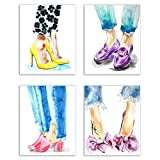 Designer Shoes Prints – Set von 4 (20,3 x 25,4 cm) Matte