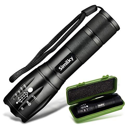 Torcia a LED Torcia a LED Messa a fuoco regolabile Torcia portatile Super Bright 1200 Lumen Torcia tascabile Torcia da campeggio esterna zoomabile e impermeabile 3 batterie AAA non incluse