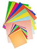 Ziggle All In 1 Pastel, Colored Sheet Florescent, Origami Craft Paper-Set of 120