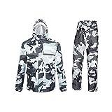 Ynport Crefreak Wasserdichter Anzug für Herren/Damen, Camouflage-Muster, mit Kapuze