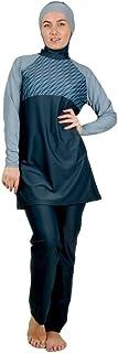 Veilkini Spiral Line Loose Full Cover Swim Suit V0118011202, Grey