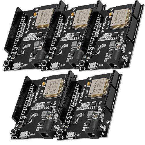 AZDelivery 5 pcs ESP32 D1 R32 Placa de Desarrollo con CH340G y WiFi + Bluetooth IoT con Micro USB compatible con Arduino