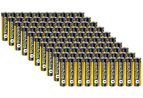 200 Stück Everactive Industrial Batterien Mignon AA 2700 mAh 1,5 V HR06 Alkaline
