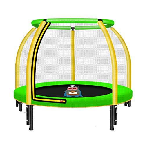 Trampolines de interior Para Niños Cama De Parachoques para El Hogar Trampolín con Red De Protección Cama De Salto Pequeña Trampolín Casero Trampolín (Color : Yellow, Size : 122 * 122 * 100cm)
