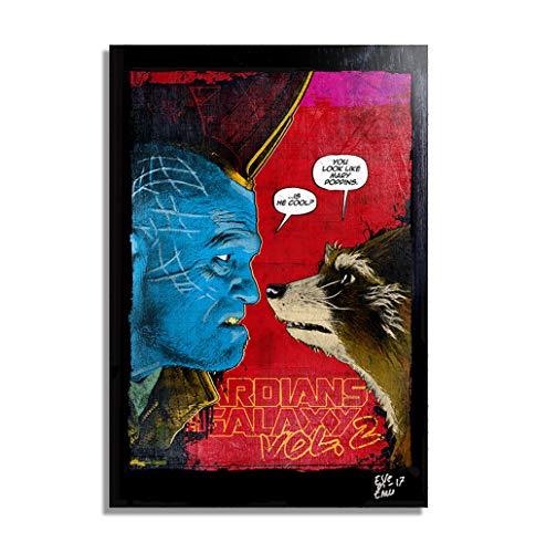Rocket Raccoon y Yondu de Guardianes de la Galaxia Vol. 2 - Pintura Enmarcado...