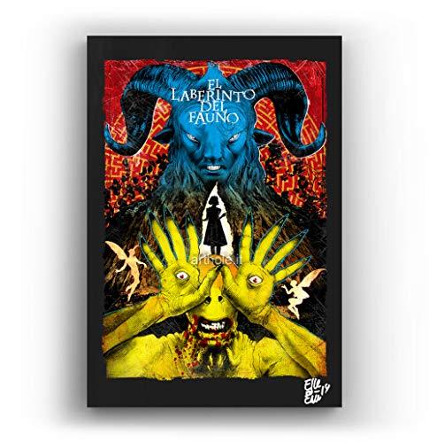 El Laberinto del Fauno, pelicula de Guillermo del Toro - Pintura Enmarcado Original, Imagen Pop-Art, Impresion Poster, Impresion en Lienzo, Cuadro, Comics, Cartel de la Pelicula