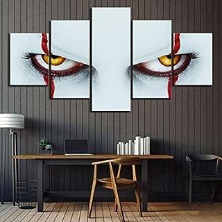 キャンバスプリントウォールアートプリント、ジョーカー映画 5 PCS、リビングルーム用の大きな写真とプリントフレームなし40*60 40*80 40*100cm