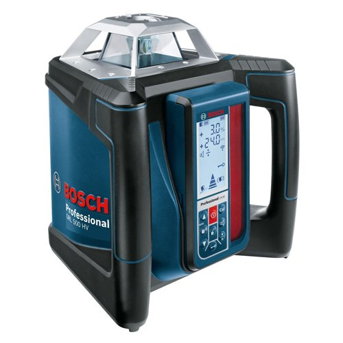 Bosch Professional 0601061B00 500HV 5 Professional GRL HV + LR 50, 500 m (Durchmesser) Arbeitsbereich mit Empfänger, Halterung, Schutztasche, Schnelllader, Transportkoffer, 850 W, 18 V