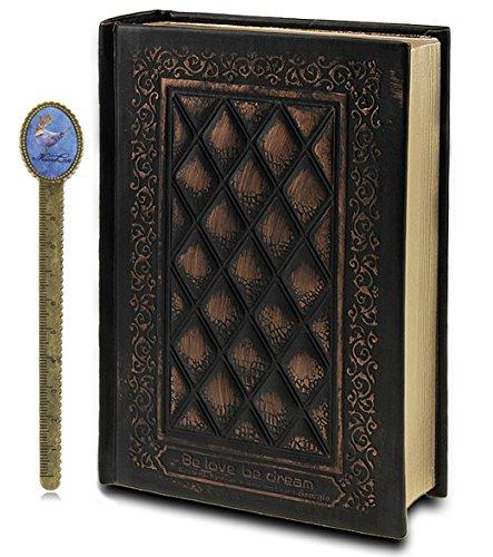 Liying® - Taccuino con copertina in pelle, per diario personale, diario di viaggio, schizzi, colore: bronzo Misura unica nero
