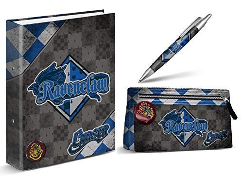 HARRY POTTER Classeur Ravenclaw + Trousse Ravenclaw + Stylo Ravenclaw 14 cm