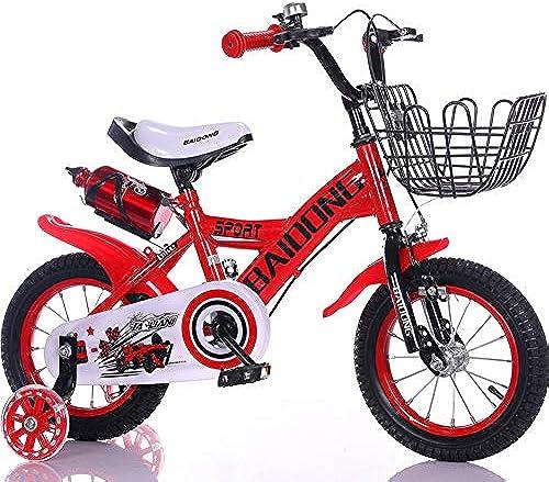 LIWORD Kinderfahrrad Mit Zusatzrad, Wasserkessel, Korb, Vorderrad- Und Hinterradbremse