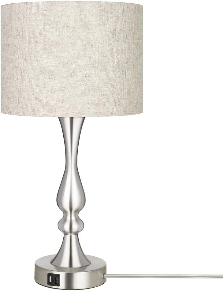 DEWENWILS Dimmable Modern Beauty products Table Lamp with La 2 Many popular brands Fabric USB Ports
