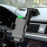 Wireless Car Charger Automatic Clamping MANKIW 10W Qi Fast Charging Car Charger Mount Compatible with iPhone 11/11pro/11pro MAX/Xs MAX/XS/XR/X/8/8p, Samsung S10/S10+/S9/S9+/S8/S8+