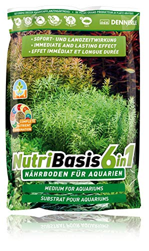 Dennerle NutriBasis 6 in 1 – Nährboden für Aquarien – für prächtigen Pflanzenwuchs 9,6 kg