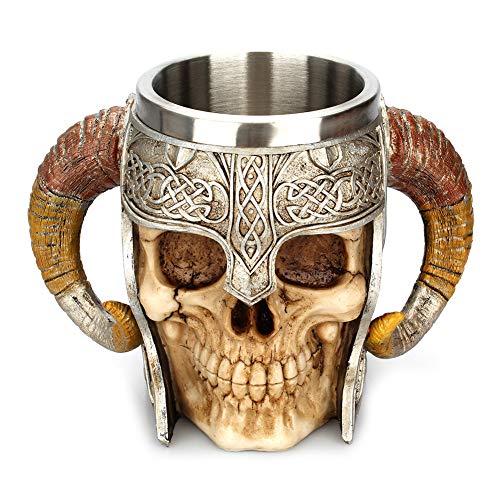 Ruiting Taza de Acero del diseño del cráneo 3D Taza Inoxidable esquelético...