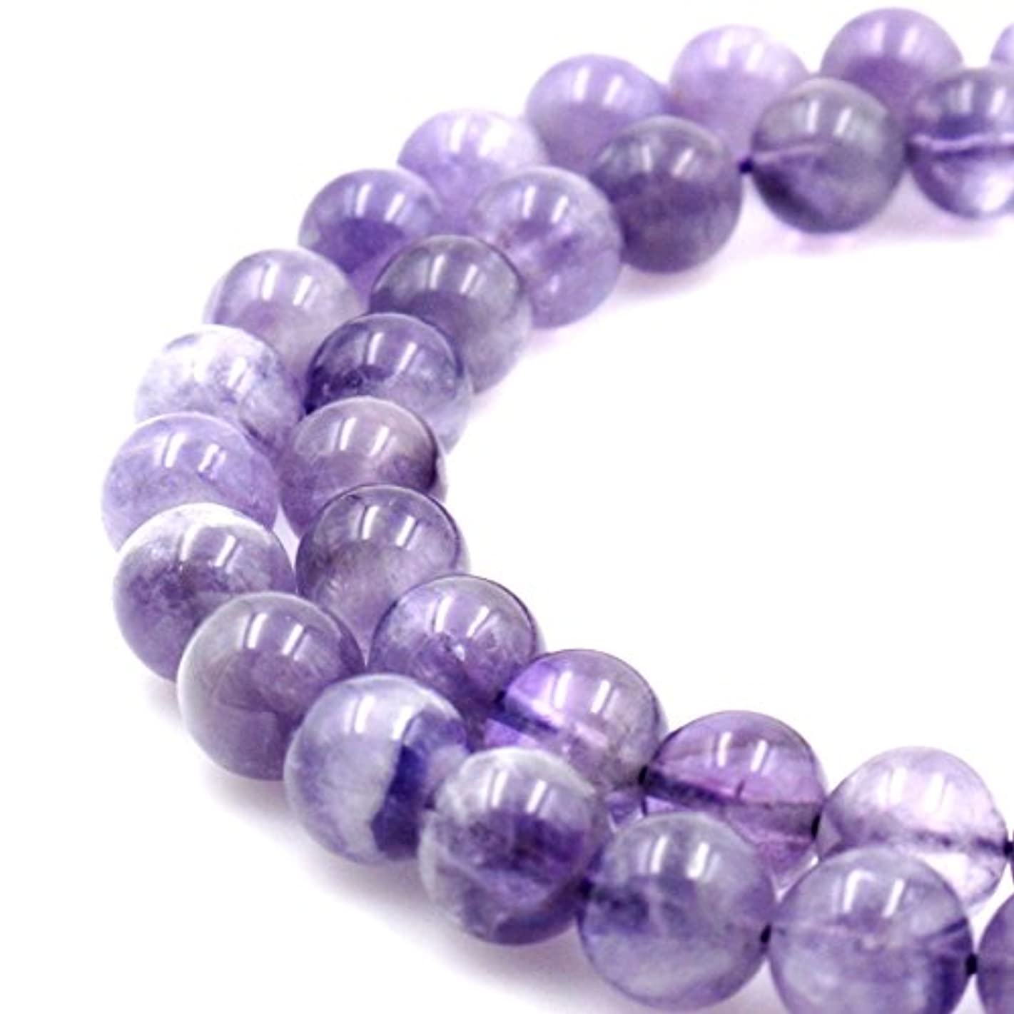 BRCbeads Natural Light Purple Amethyst Gemstone Round Loose Beads 6mm Approxi 15.5 inch 60pcs 1 Strand per Bag for Jewelry Making