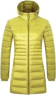 QINGMM Women's Lightweight Jacket Warm Long Down Jacket Padded Coat Winter Hooded Puffer Jacket Ladies Bubble Puffa Jacket Outwear