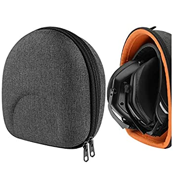 Geekria UltraShell Case Compatible with V-Moda Crossfade M-100 Crossfade 2 Wireless Crossfade XS Headphones Replacement Protective Hard Shell Travel Carrying Bag with Cable Storage  Dark Gray