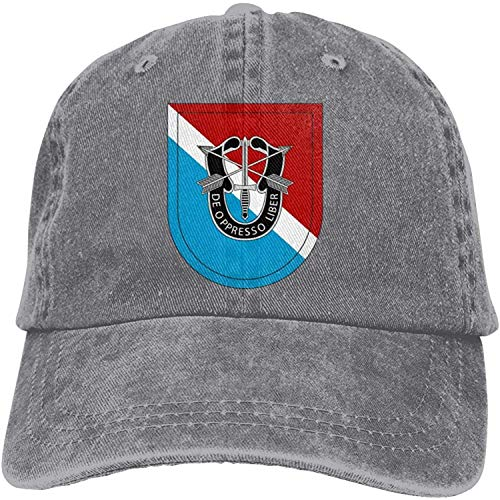 Moruolin 11th Special Forces Group Adjustable Baseball Caps Denim Hats Cowboy Sport Outdoor