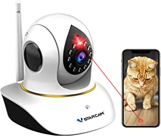 Sponsored Ad - Pet Camera, VSTARCAM Cat Camera with Laser Wireless Cat Camera 1080P Baby Monitor Camera with 2 Way Audio, ...