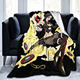 Seven Deadly Sins Merlin Throw Blankets Super Soft Fuzzy Blankets for Sofa, Couch and Bed Plush Fluffy Fleece Blankets 60'X50'