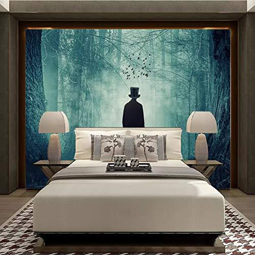 Papel Tapiz Sherlock Holmes Bosque Niebla Murales Sala De Estar Sofá Fondo Pintura De Pared Papel De Pared De Tela Impermeable,320X220Cm (125.98X86.61 In)