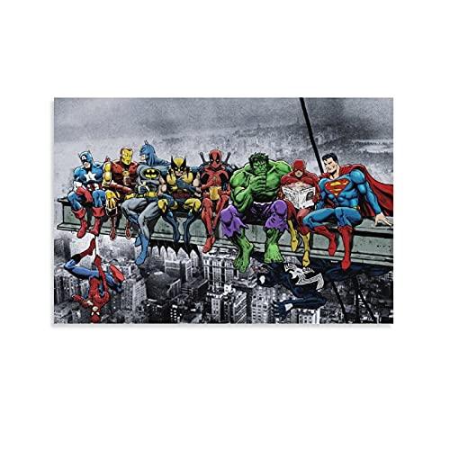 SOROP 6472-DC Póster de superhéroes de Marvel, pintura decorativa, lienzo para pared, sala de estar, póster para dormitorio, 60 x 90 cm