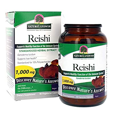 Nature's Answer Reishi Mushroom, Standardized 60 Vcaps by Natures Answer
