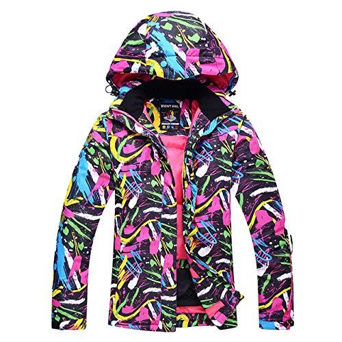 JSGJHXFCheap Skipak voor dames, sneeuwkleding, snowboardpak, waterdicht, winddicht, winterjas, skipak, sets jas, draagbroek